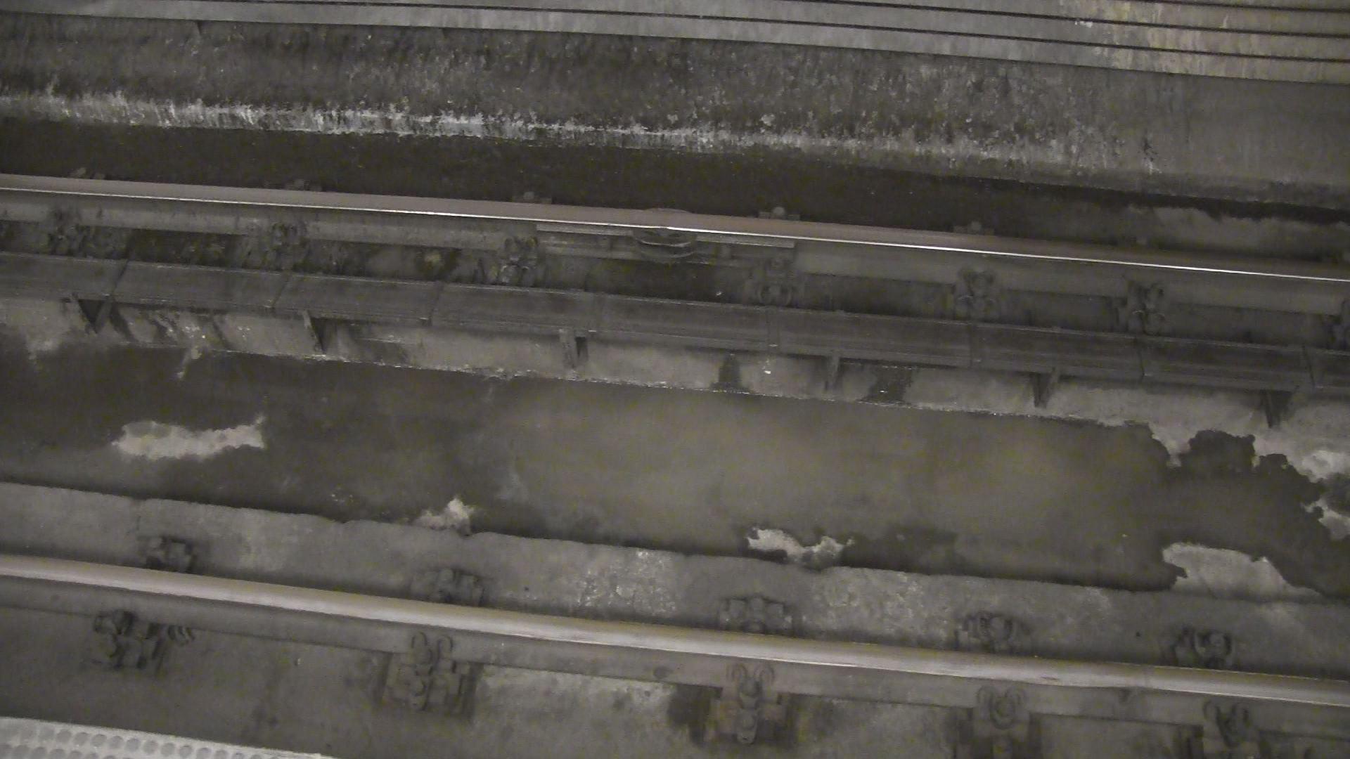 Víz öntötte el a kék metró egyik szakaszát