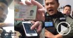 【睇片】《立場》記者被警截查 警向鏡頭展示記者身份證 搶奪毀記者手機