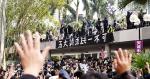 15 萬人參與天下制裁集會 便衣警遭圍毆 警射催淚彈驅散 多人被捕