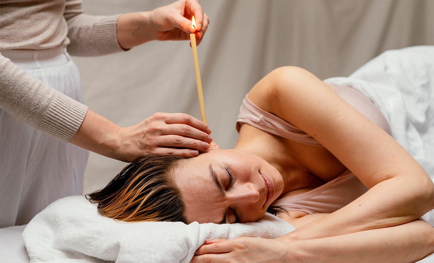 Ear candling helps remove excess amounts of earwax.