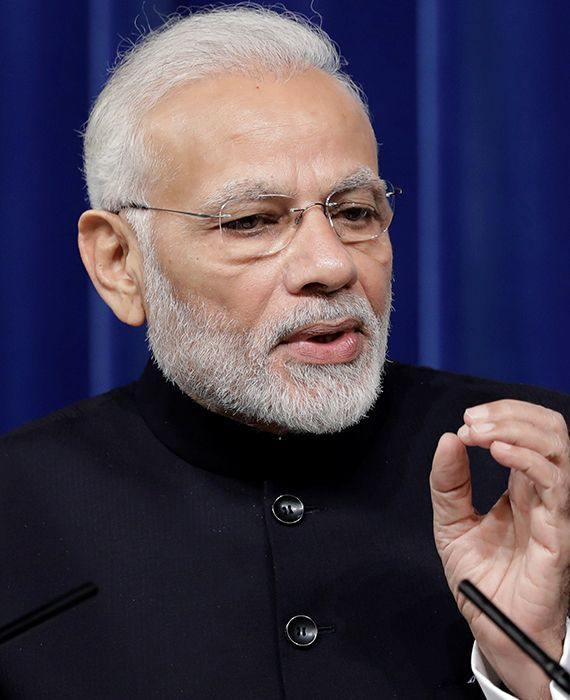 """Narendra Modi used the """"Khan Market gang"""" jibe six times in an interview."""