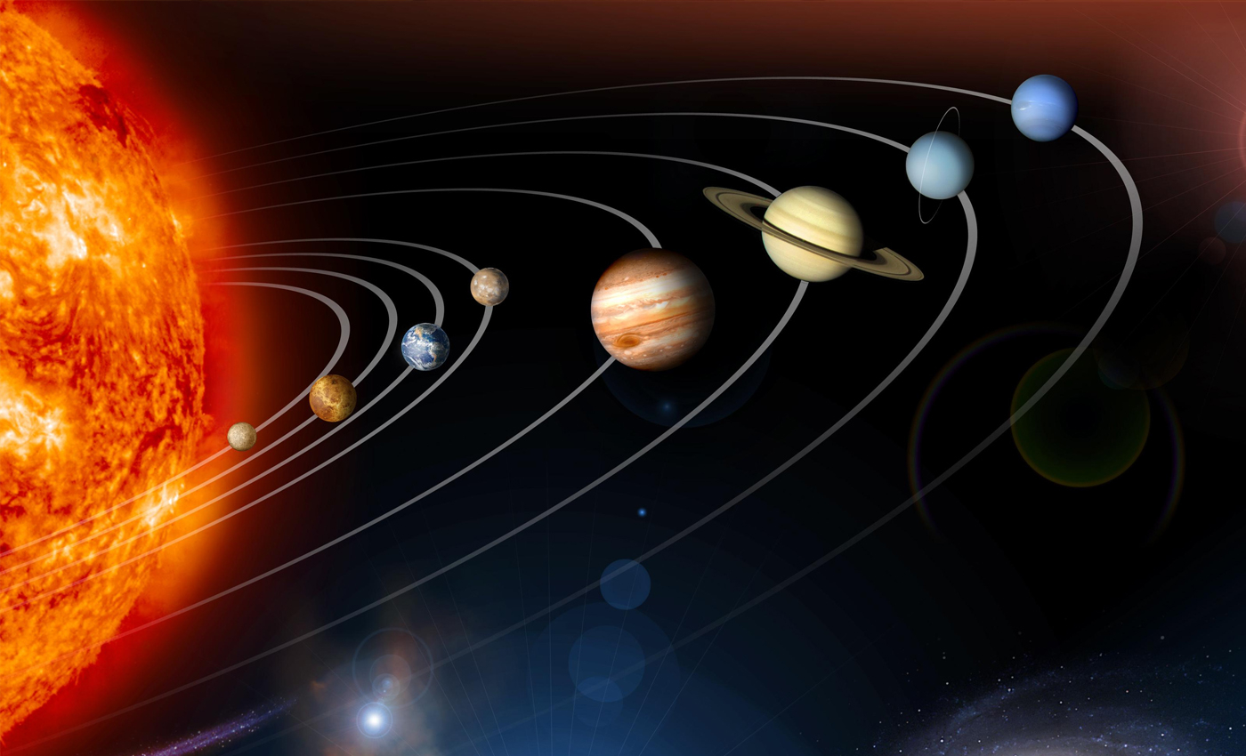Sun orbits around the center of the Solar system.