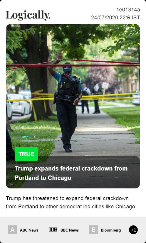 Trump expands federal crackdown from Portland to Chicago