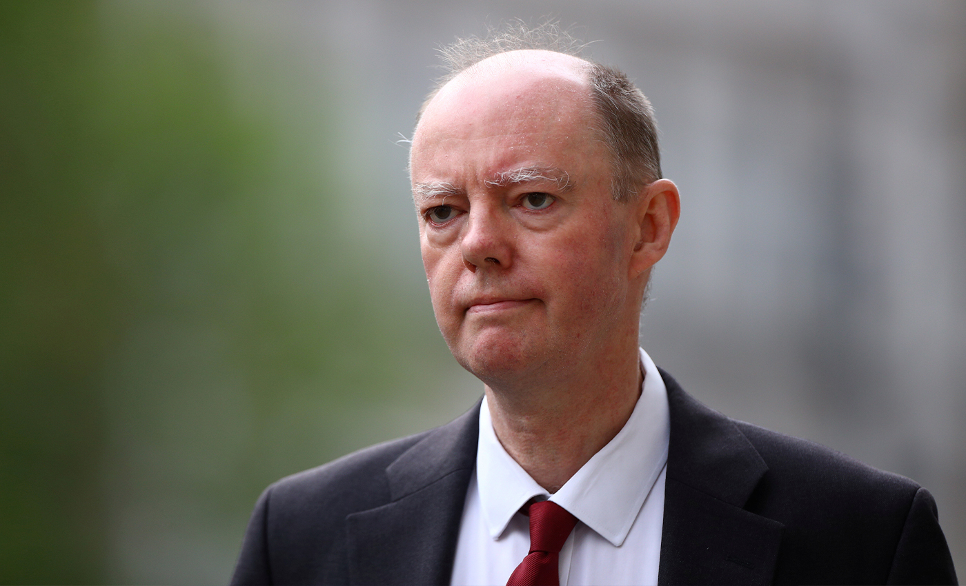 Abuse towards England's Chief Medical Advisor Professor Chris Whitty was staged.