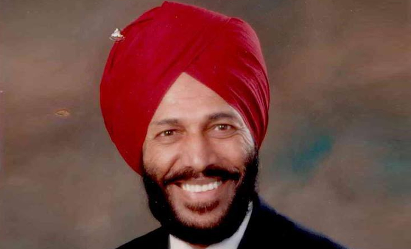 Team India wear black armbands as a tribute to Milkha Singh.