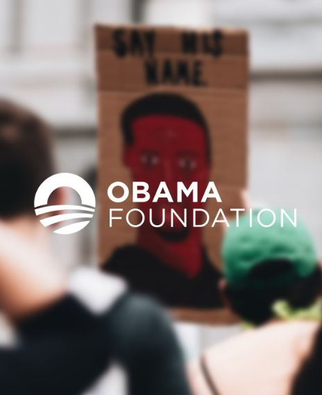 The Obama Foundation tweeted an image of George Floyd eight days before his death.
