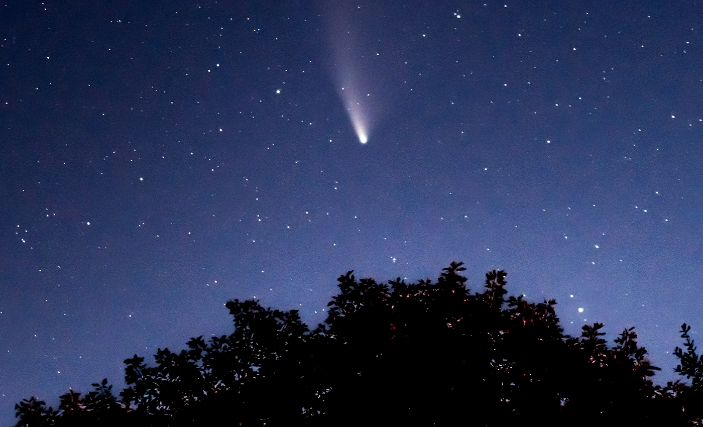 SpaceX Satellites ruined the perfectly good view of Comet Neowise.