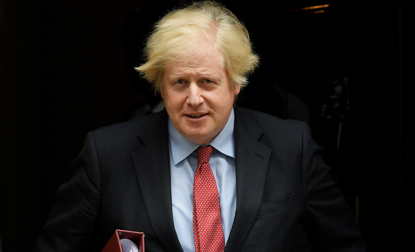 Boris Johnson travelled to Italy to baptize his son Wilfried.