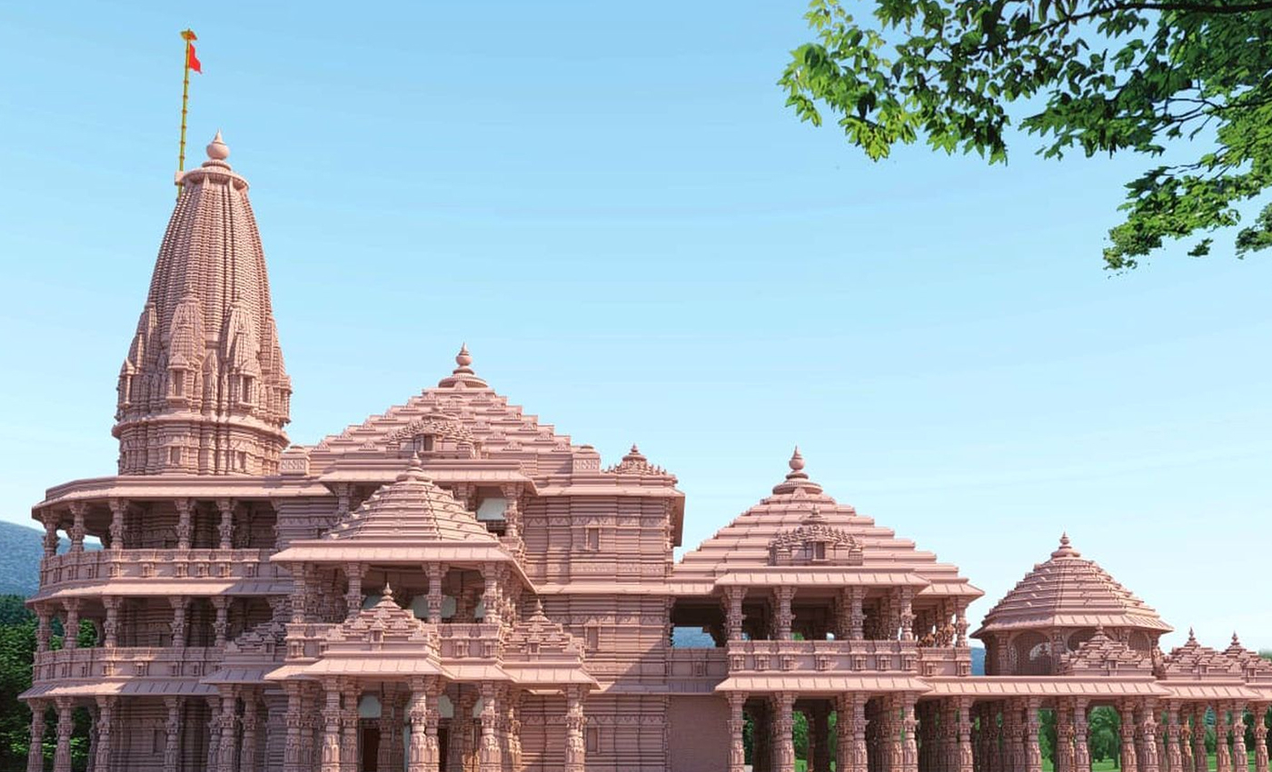 Decoration of pandal for the groundbreaking ceremony of Ram Mandir, Ayodhya, has already taken place.