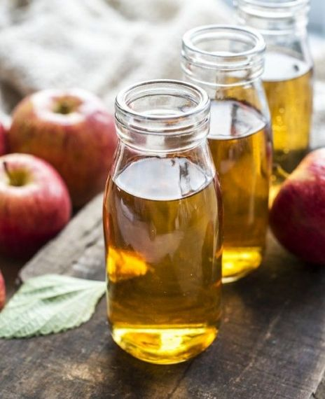 Drinking apple cider vinegar helps with weight loss.