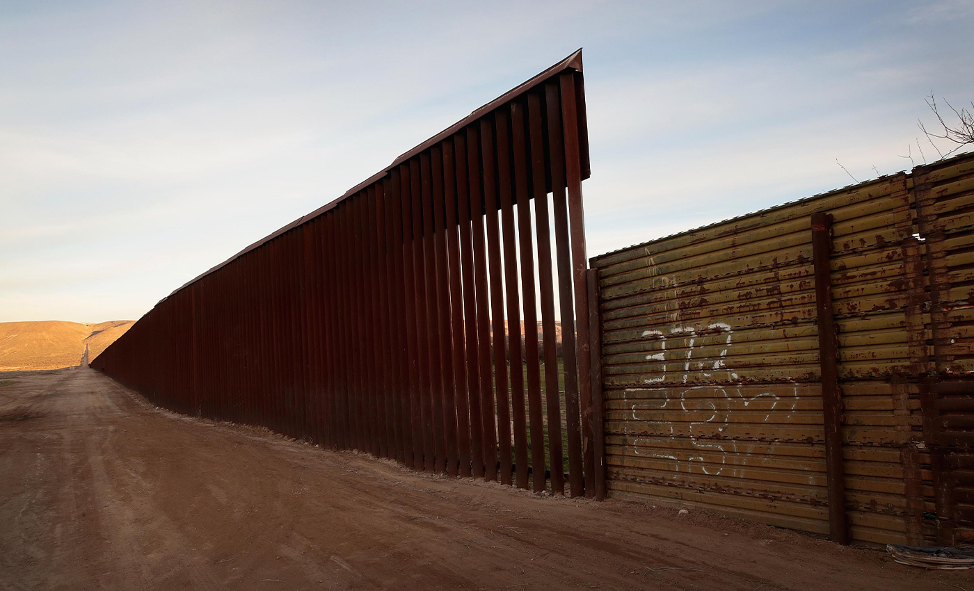 US-Mexico border wall in Texas collapse partially due to a storm.