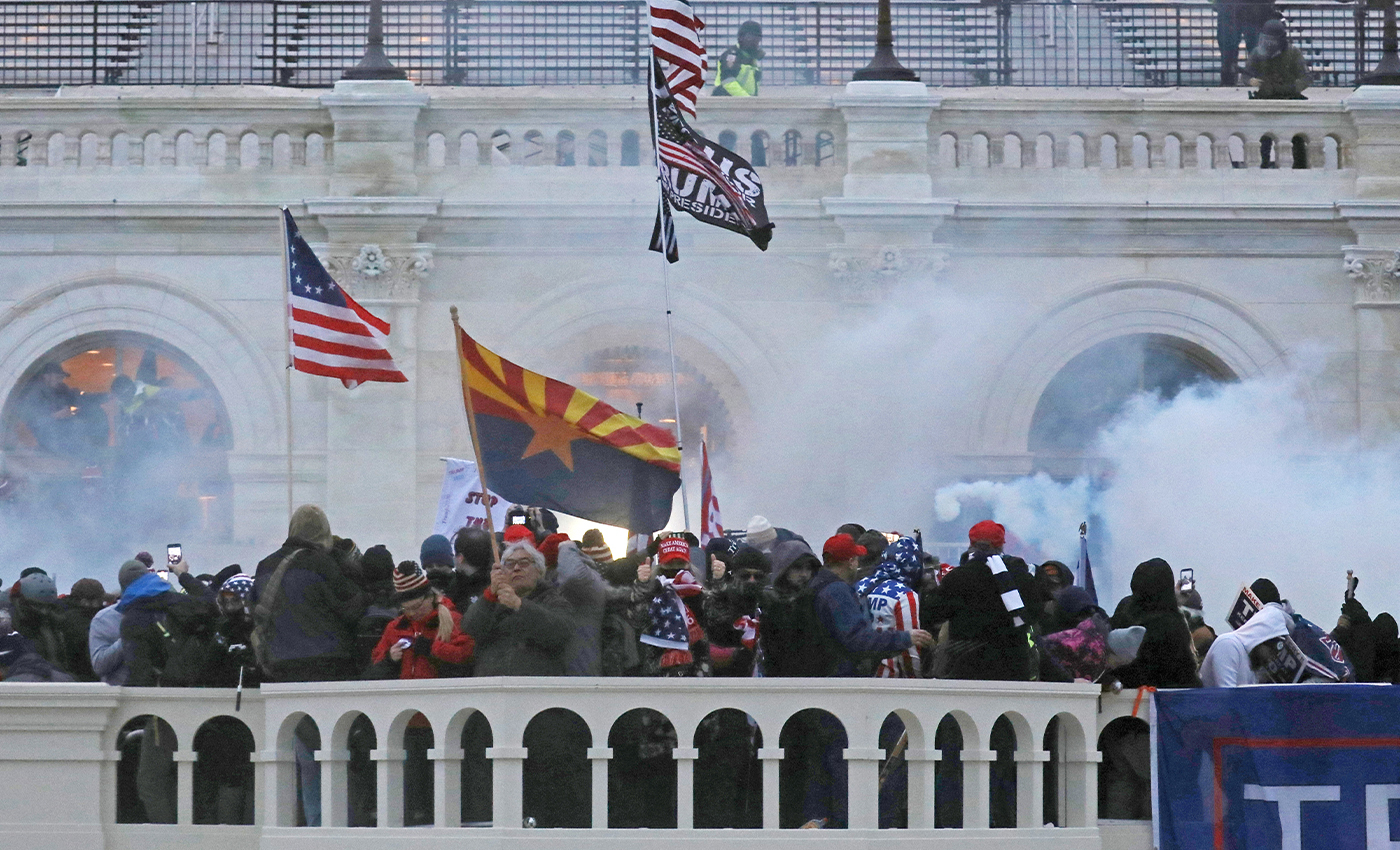During the siege on the Capitol, rioters smeared feces around the building.