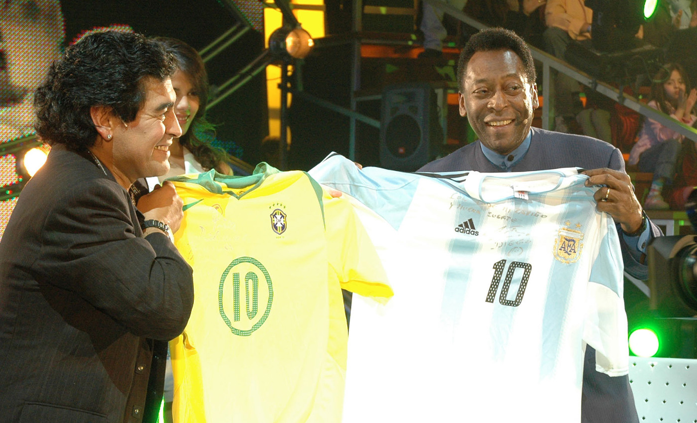 Pele and Maradona never played in a match together.