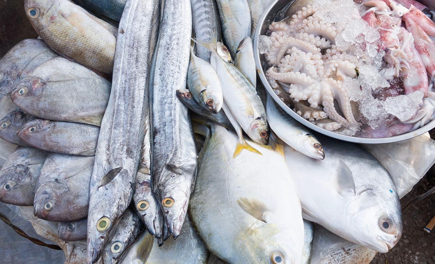 Coronavirus can be spread through seafood.