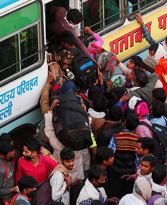 Delhi and the Uttar Pradesh governments arranged 100 and 200 buses, respectively, to ferry migrants during the COVID-19 lockdown.