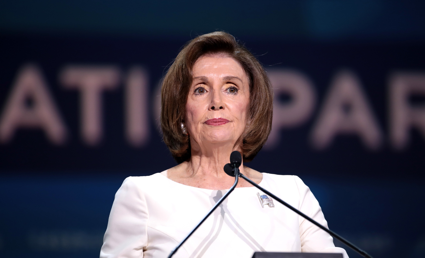 House Speaker Nancy Pelosi responds to Republican backlash to her San Francisco hair salon visit, saying she was set up by the owner.