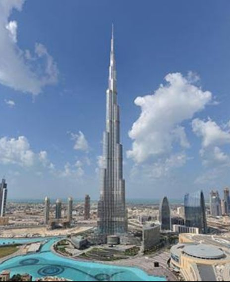 Burj Khalifa is visible from Noida because of less pollution.
