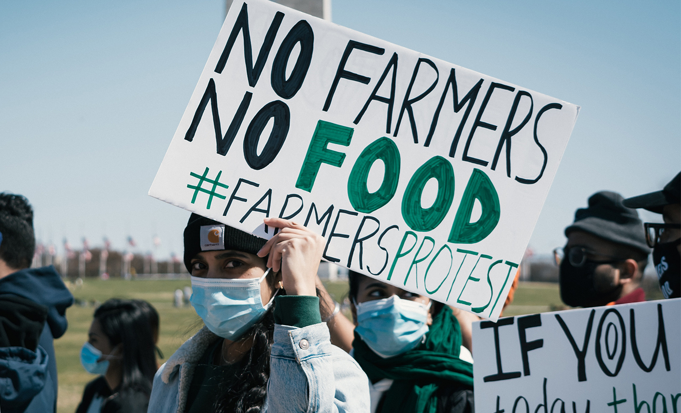 New Zealand farmers supported the farmer protests in Delhi.