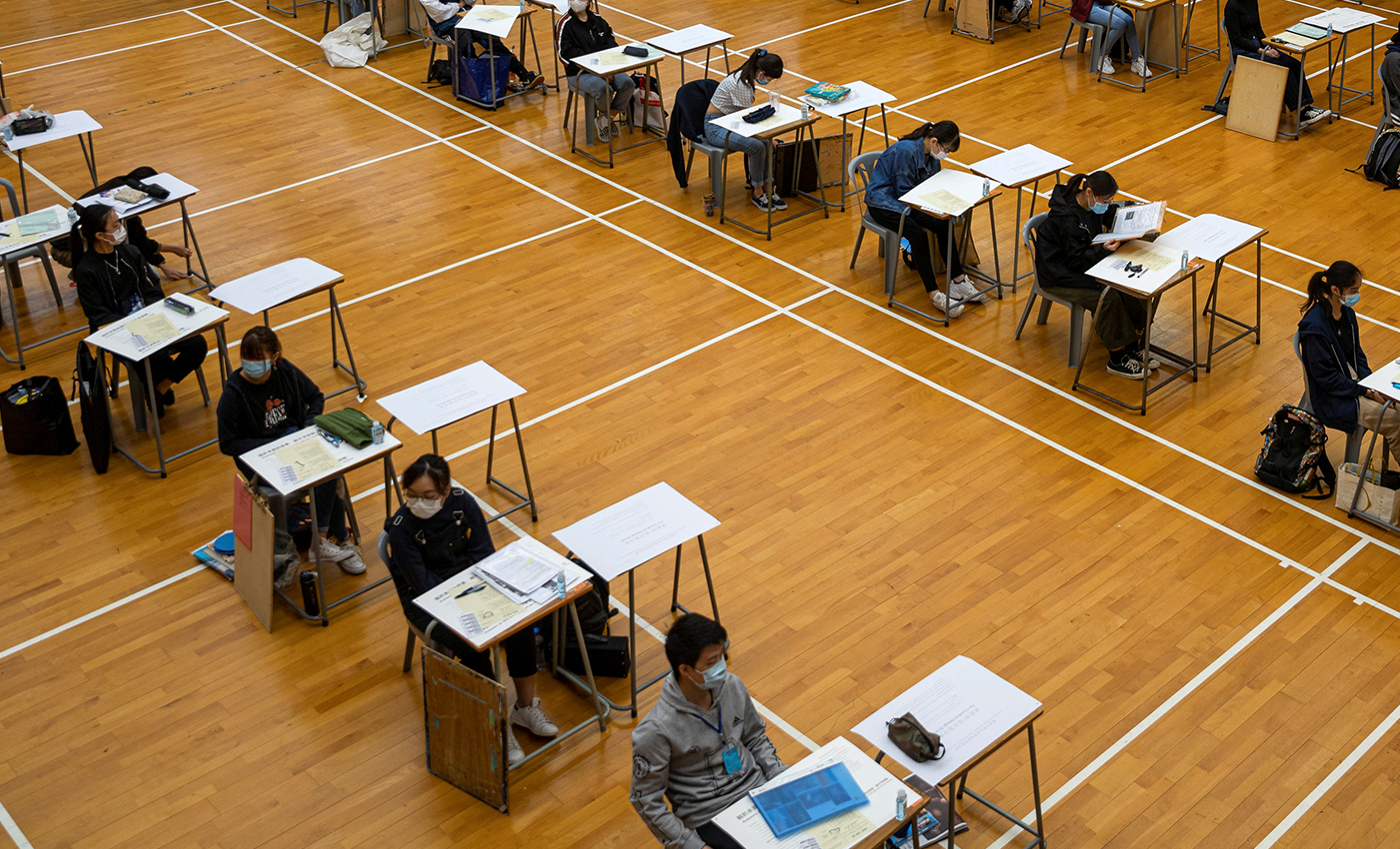 Scotland's school pupils are receiving their results after the COVID-19 pandemic forced exams to be canceled for the first time in history.