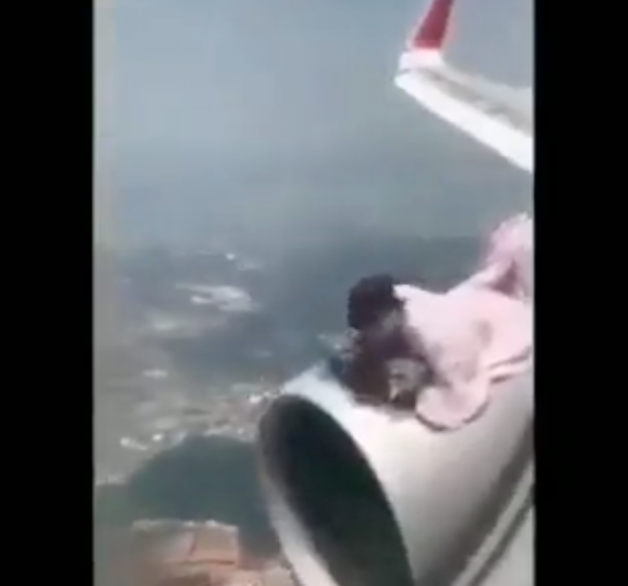 An Afghan man tried to escape the Taliban regime by clinging to the turbine engine of an aircraft.