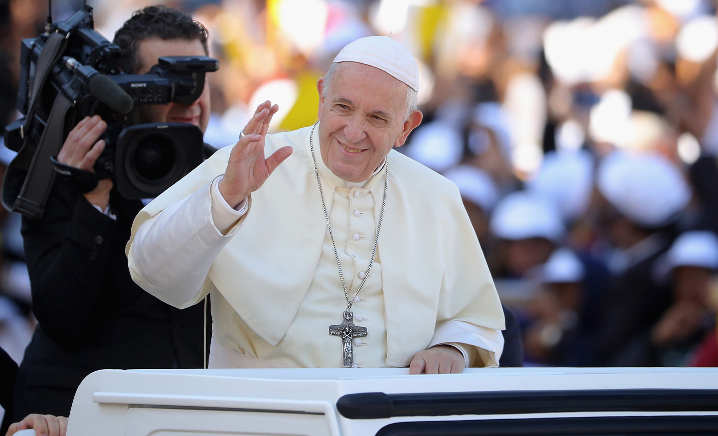 Pope Francis has been arrested.