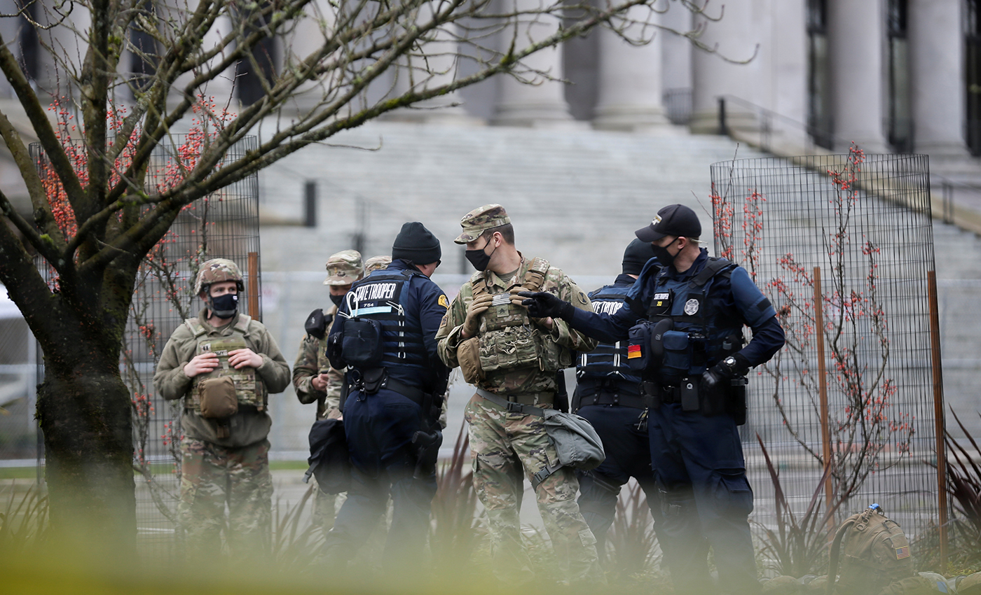 Trump put up National Guard troops in hotels after the Capitol Police took charge of the Capitol Building.