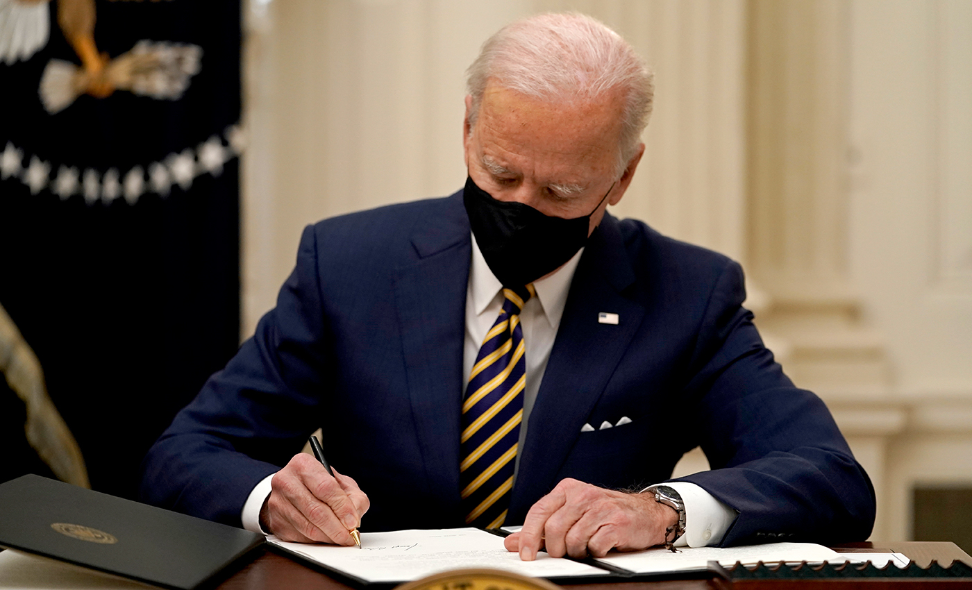Joe Biden signed blank executive orders on his first day in the office.