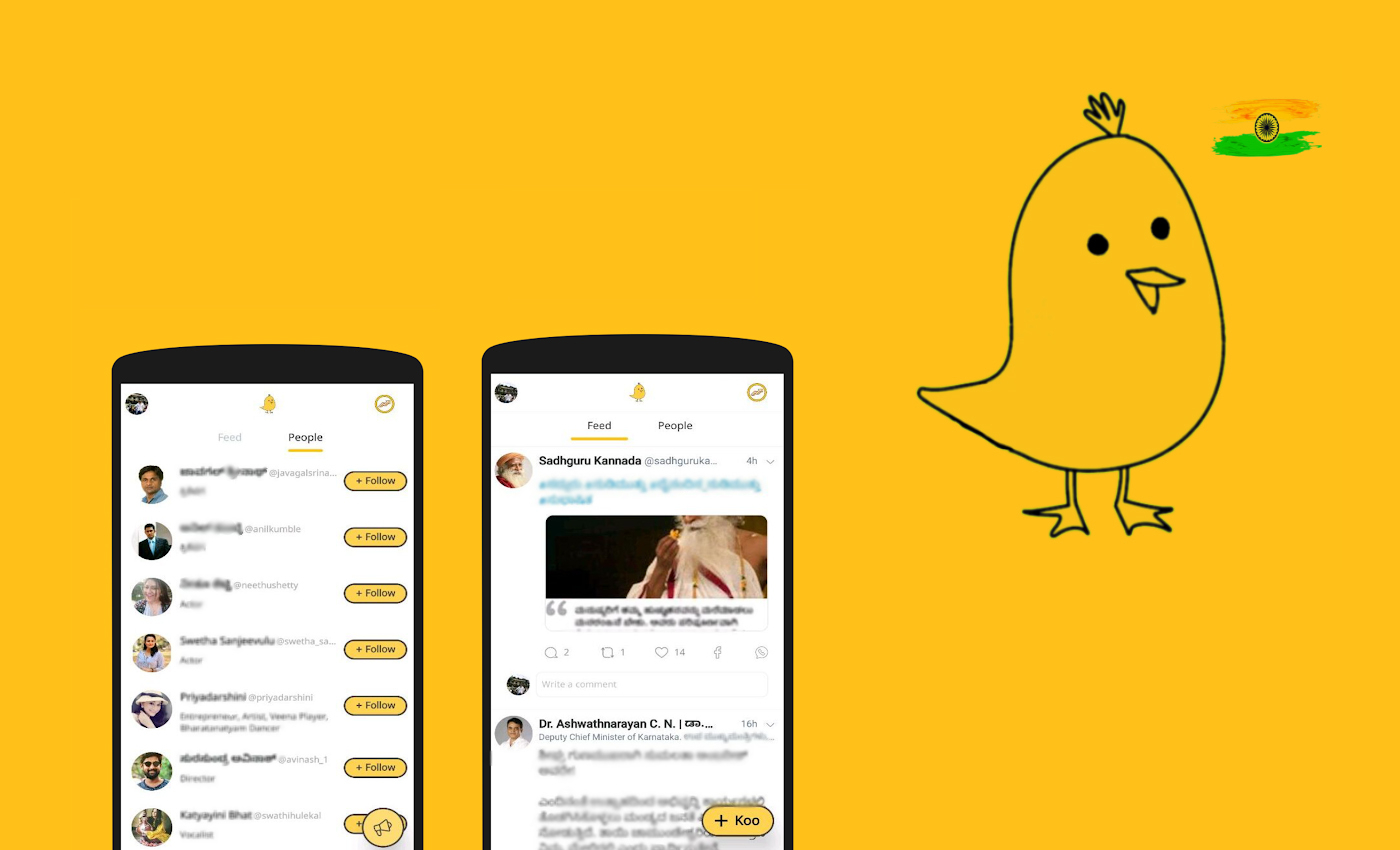 Indian app Koo is an alternative for Twitter to post ideas.