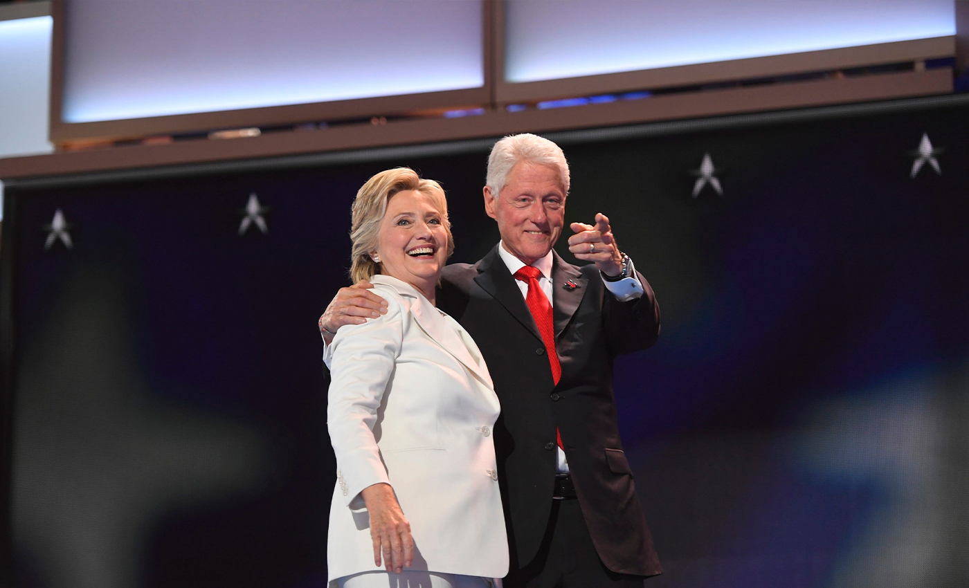Bill and Hillary Clinton have been arrested.