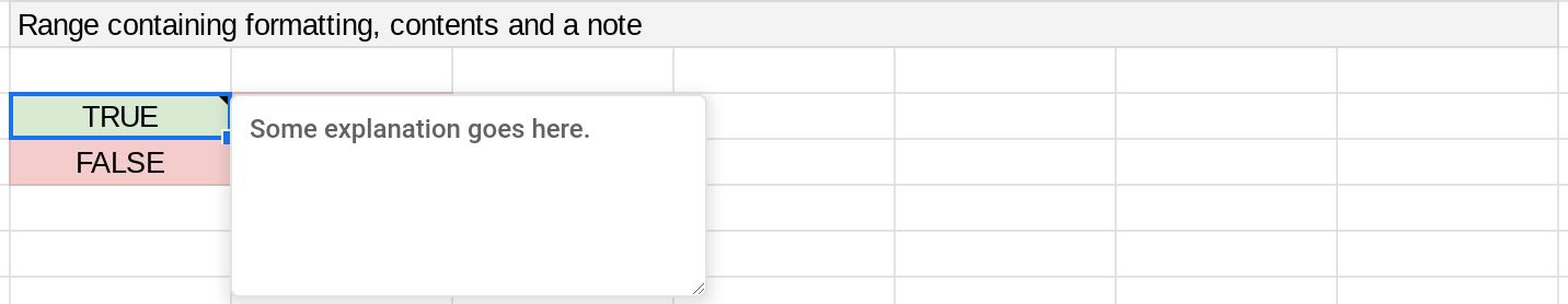 Screenshot of a range in a Google Sheets spreadsheet.