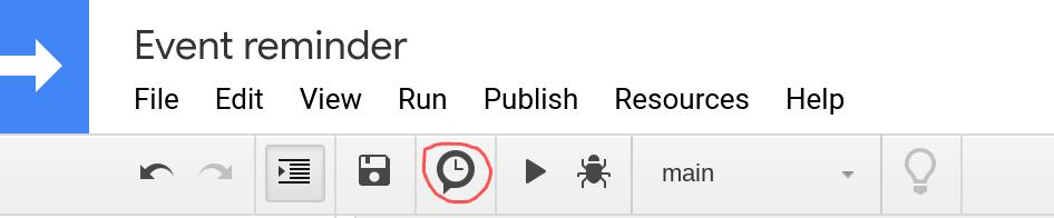 Screenshot of Google Apps Script editor