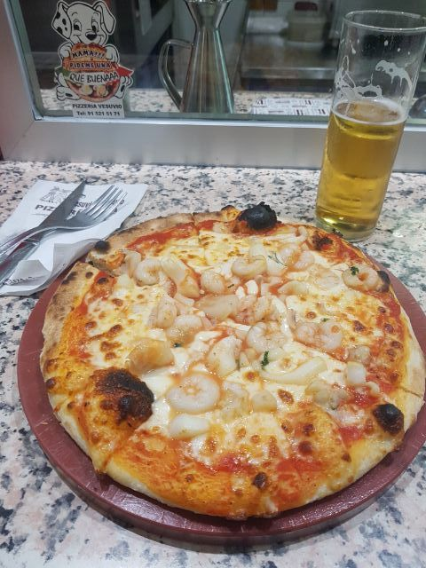 Pizza de Frutos de Mari