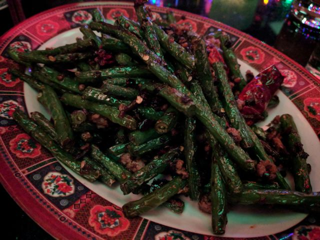 dry fried green beans chilli minced pork