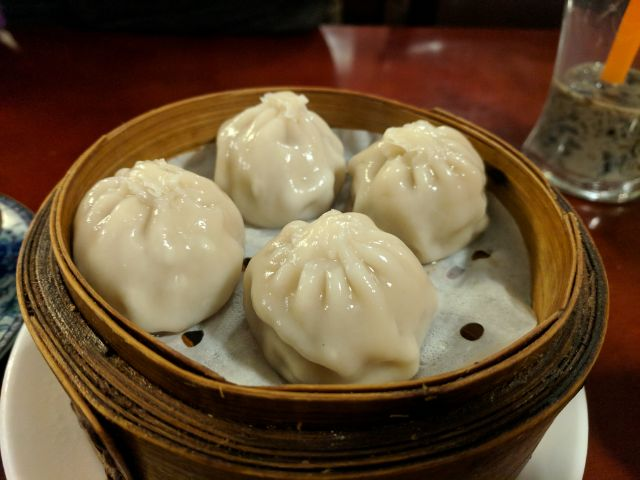 Shanghai pork dumplings (xiao long bao)