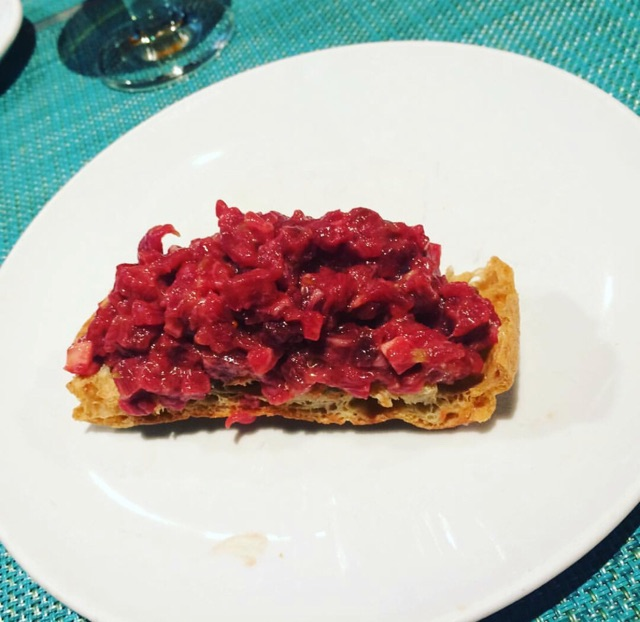 Tapa de steak tartar