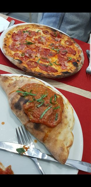 Pizza y calzone