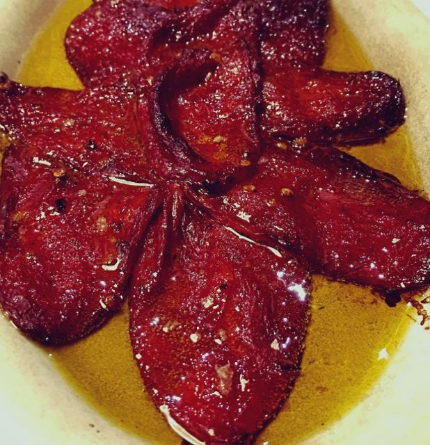 Home grilled red peppers