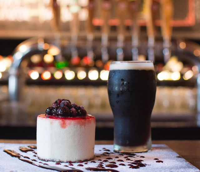 Stout y cheesecake