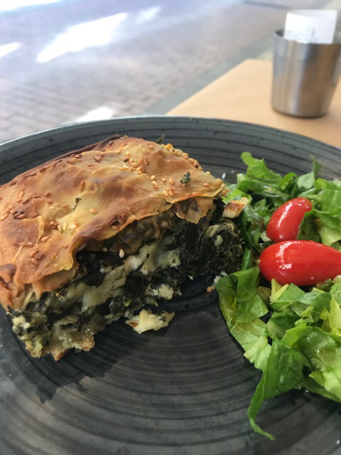 Spinach and feta cheese pie