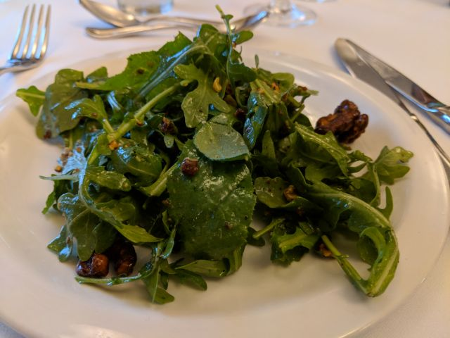 Baby arugula and shaved Fennel salad