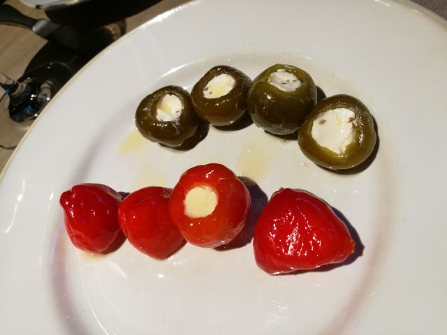 Peppers with feta cheese