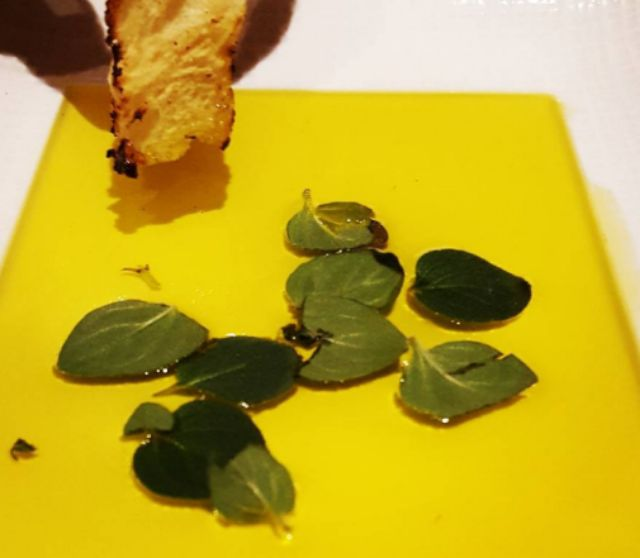 Oregano leaves in olive oil