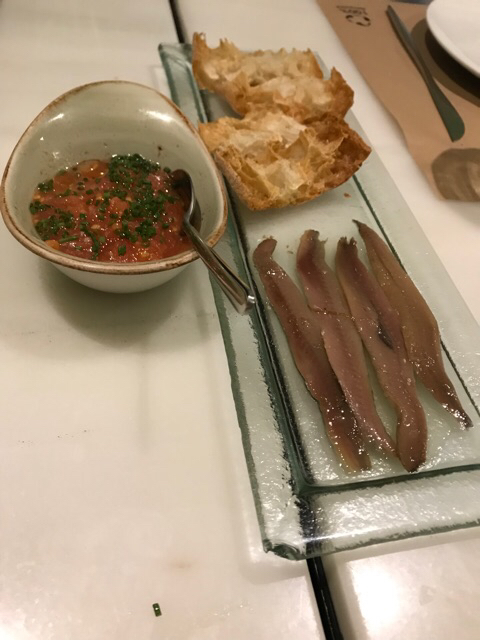 Anchoas con pan tumaca