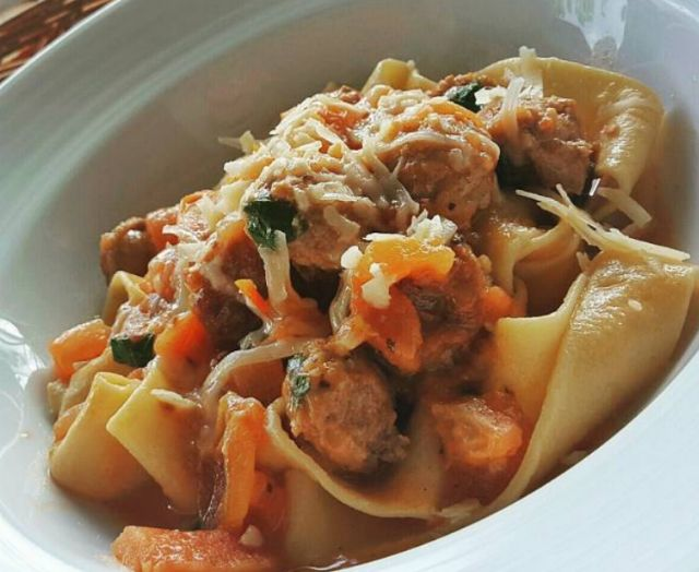 Papardelle with italian sausage