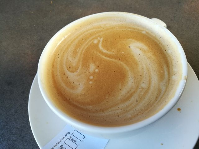 Flat White with Cinnamon Spice