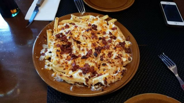 Chesse fries bacon