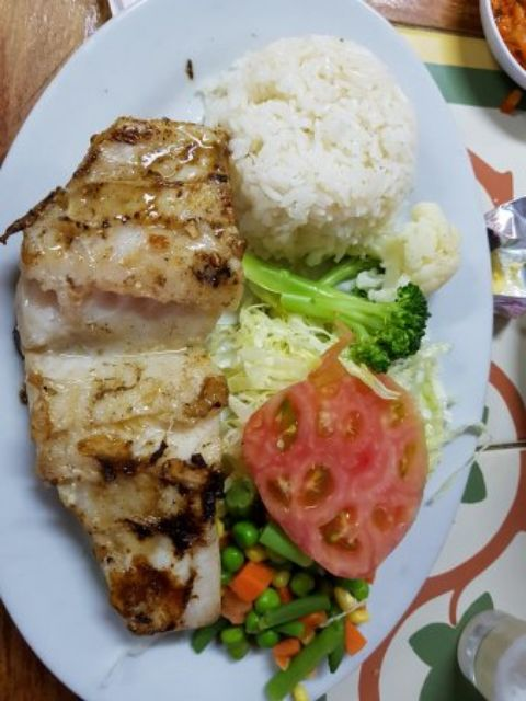 Grilled congrio