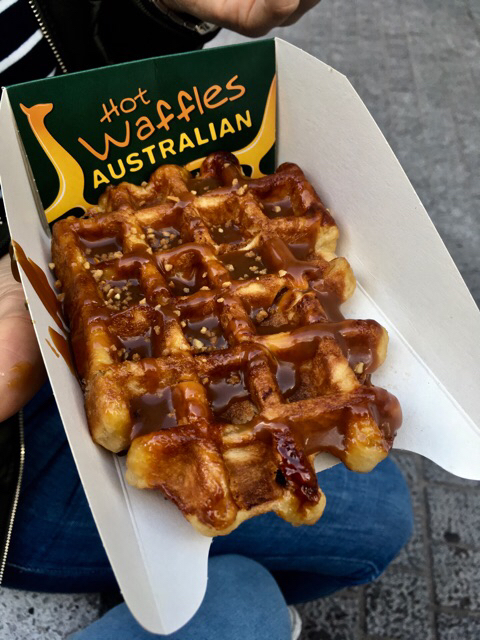 Speculoos waffle