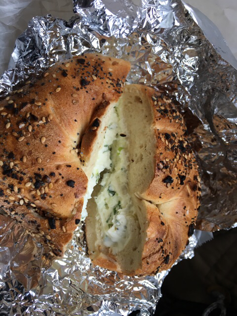Everything bagel with scallion