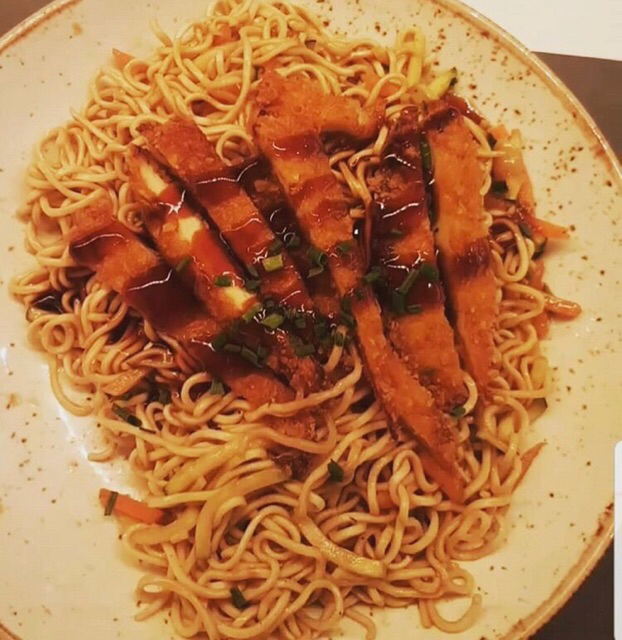 Corral chicken yaki udon